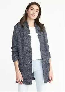 Two-Button Sweater-Fleece Coat for Women