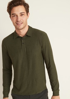 Old Navy Ultra-Soft Breathe ON Go-Dry Cool Long-Sleeve Polo for Men