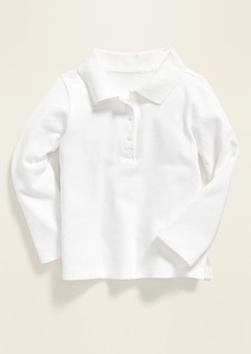Old Navy Uniform Long-Sleeve Polo for Toddler Girls