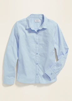 Old Navy Uniform Long-Sleeve Poplin Shirt for Girls