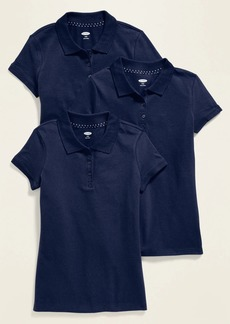Old Navy Uniform Short-Sleeve Pique Polo 3-Pack for Girls