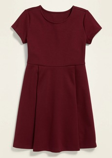 Old Navy Uniform Short-Sleeve Ponte-Knit Dress for Girls