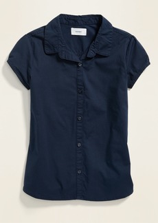 Old Navy Uniform Short-Sleeve Poplin Shirt for Girls