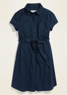 Old Navy Uniform Tie-Belt Shirt Dress for Girls