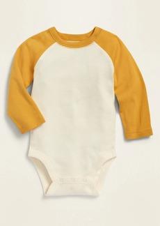 Old Navy Unisex Color-Blocked Raglan-Sleeve Bodysuit for Baby