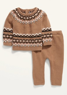 Old Navy Unisex Fair Isle Pullover Sweater and Pants Set for Baby