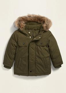 Old Navy Unisex Faux-Fur-Trim Hooded Parka for Toddler
