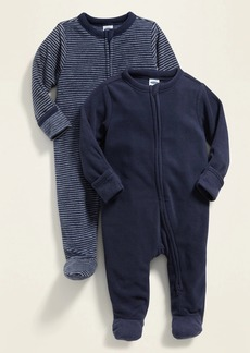 Old Navy Unisex Micro Fleece Footie Pajama One-Piece 2-Pack for Baby