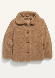 Old Navy Unisex Sherpa Button-Front Coat for Toddler