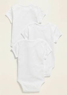 Old Navy Unisex Short-Sleeve Jersey Bodysuit 3-Pack for Baby