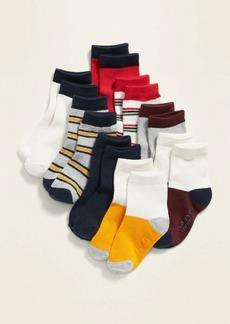 Old Navy Unisex Striped Crew-Socks 8-Pack for Toddler & Baby