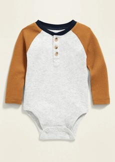 Old Navy Unisex Thermal Henley Bodysuit for Baby