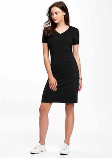 Fitted V-Neck Tee Dress for Women