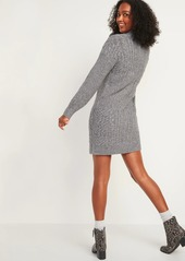 Old Navy Variegated-Knit Mock-Neck Sweater Dress for Women
