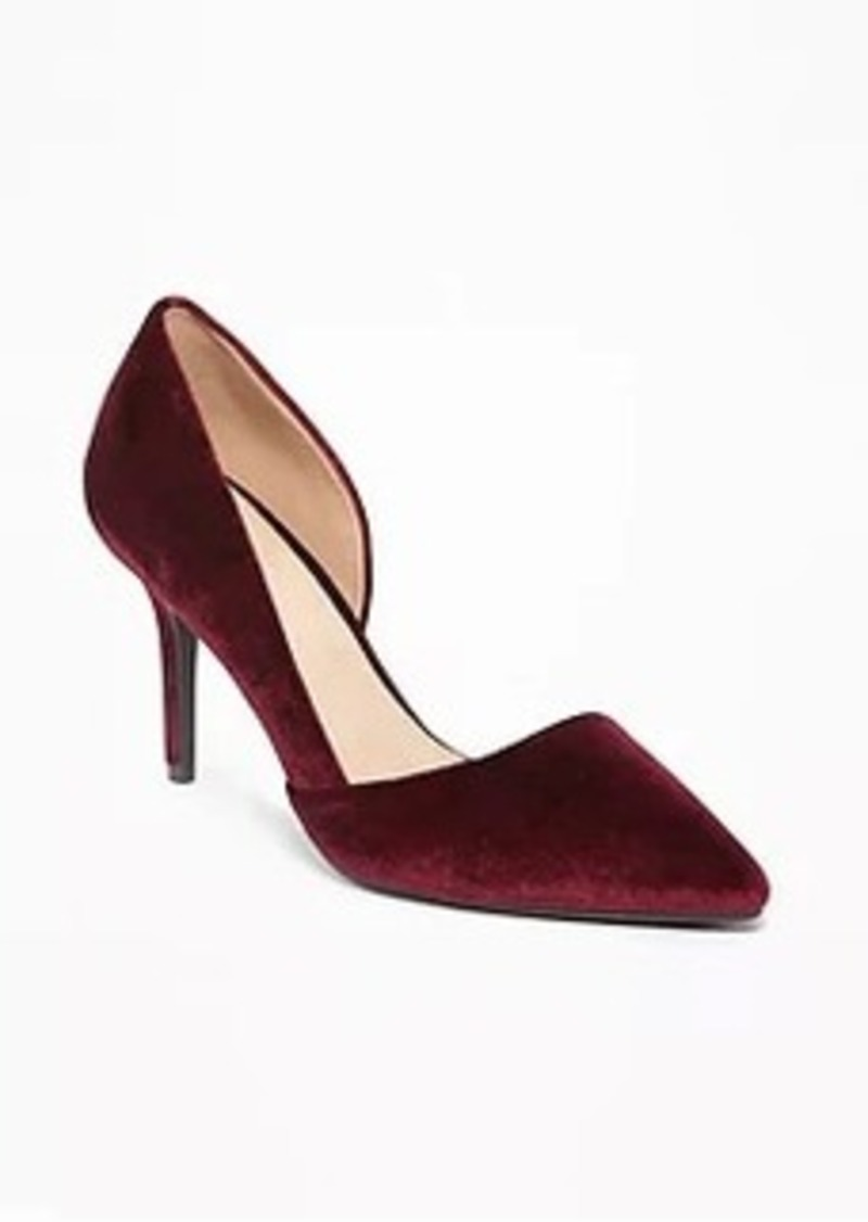595a4735d8 Old Navy Velvet Demi D'Orsay Pumps for Women | Shoes