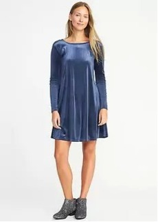 Velvet-Knit Swing Dress for Women