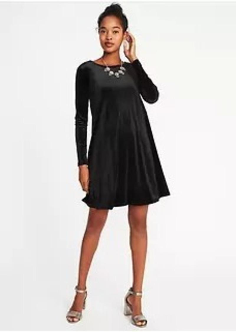 406a9d9b657 Old Navy Velvet-Knit Swing Dress for Women