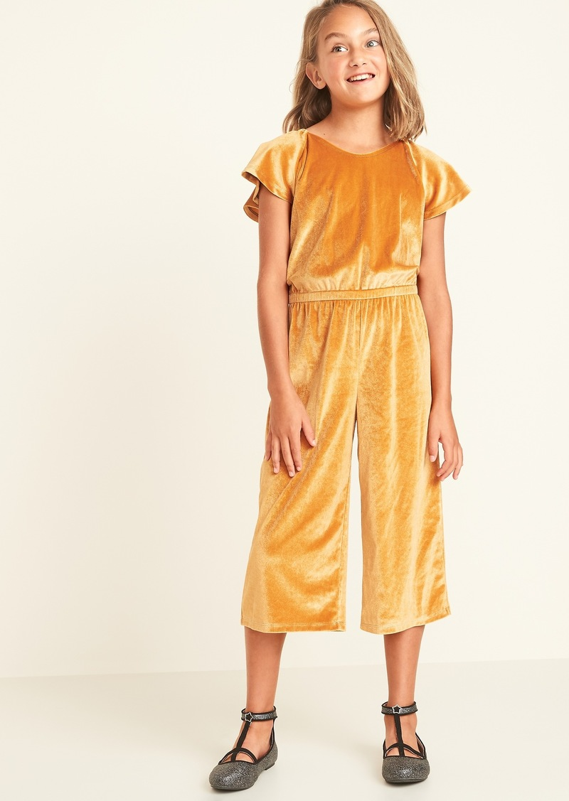 Old Navy Velvet Wide-Leg Jumpsuit for Girls