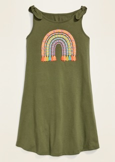 Old Navy Visual-Effects Graphic Tie-Shoulder Swing Dress for Girls