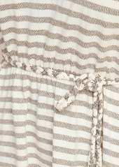 Old Navy Waist-Defined Jacquard-Stripe Tie-Belt Dress for Women