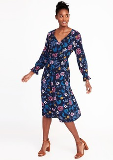 Old Navy Waist-Defined Midi Dress for Women