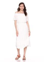 1e5106f7ec ... Old Navy Waist-Defined Off-the-Shoulder Crinkle-Gauze Midi Dress for