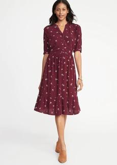 Old Navy Waist-Defined Shirt Dress for Women