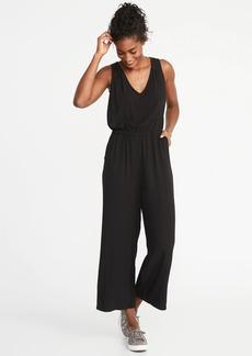Old Navy Waist-Defined Sleeveless Wide-Leg Jumpsuit for Women