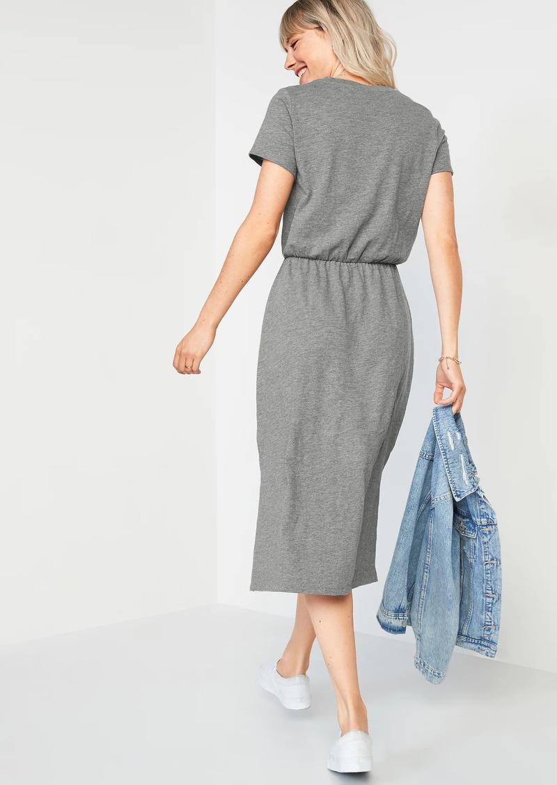 Old Navy Waist-Defined Slub-Knit Midi Dress for Women