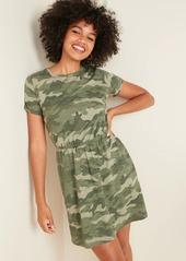 Old Navy Waist-Defined Slub-Knit T-Shirt Dress for Women