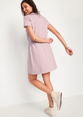 Old Navy Waist-Defined Striped T-Shirt Midi Dress for Women