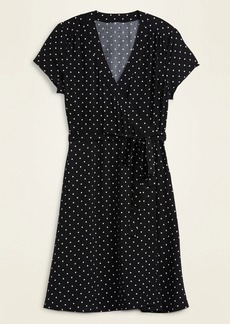Old Navy Waist-Defined Tie-Belt Wrap Dress for Women