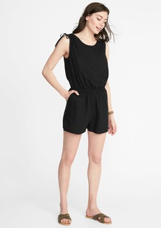 Old Navy Waist-Defined Tie-Shoulder Romper for Women