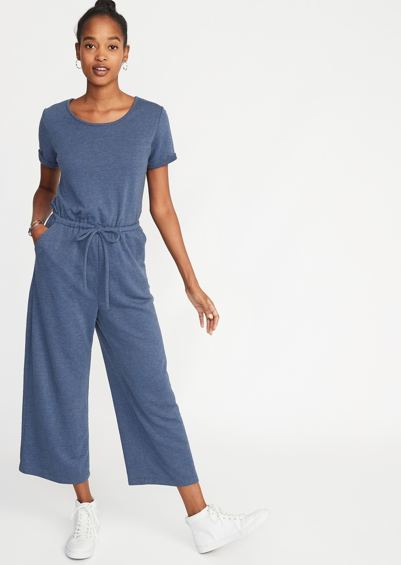 09b7c7294153 Old Navy Waist-Defined Wide-Leg French-Terry Jumpsuit for Women Now ...