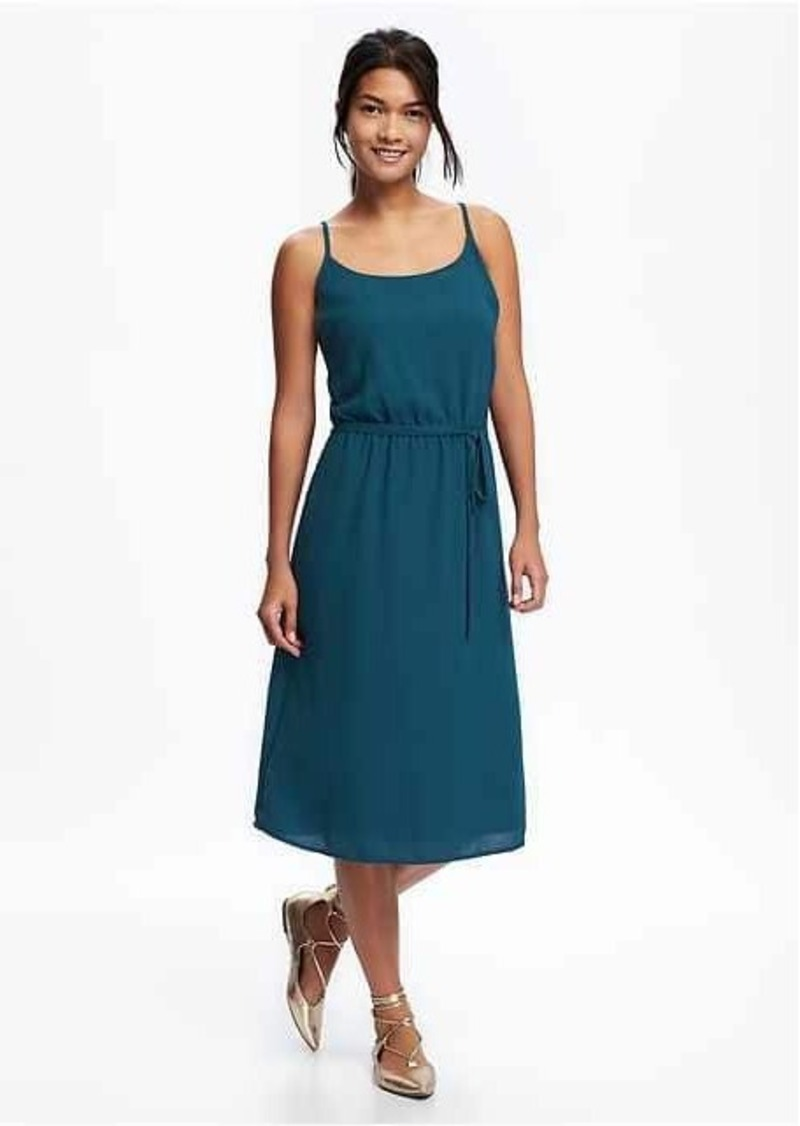 Old Navy Waisted Cami Midi Dress For Women Dresses