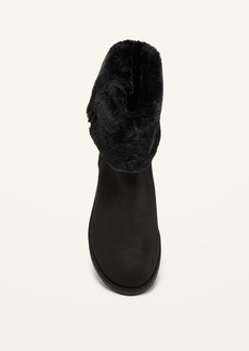 Old Navy Water-Repellent Faux-Fur Lined Ankle Boots for Women