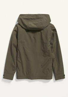 Old Navy Water-Resistant Hooded Nylon Jacket for Boys