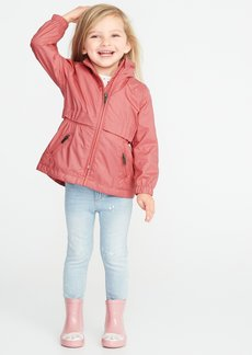 Old Navy Water-Resistant Stowaway-Hood Rain Jacket for Toddler Girls