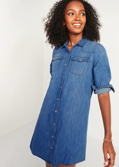 Old Navy Western Jean Shirt Shift Dress for Women