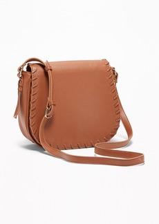 Old Navy Whip-Stitch Crossbody Saddle Bag for Women