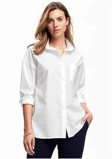 Old Navy Boyfriend White Shirt for Women