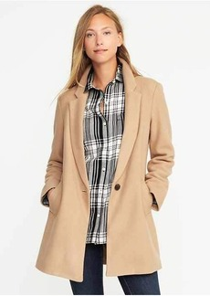 Wool-Blend Everyday Coat for Women