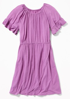 Old Navy Wrap-Front Textured Dress for Girls