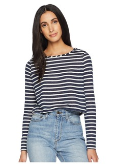 Olive & Oak Long Sleeve Boat Neck Crop Knit Top