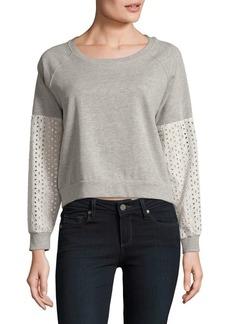 Olive & Oak Eyelet Sweatshirt