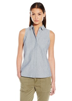 Olive & Oak Women's Button Back Sleeveless Shirt