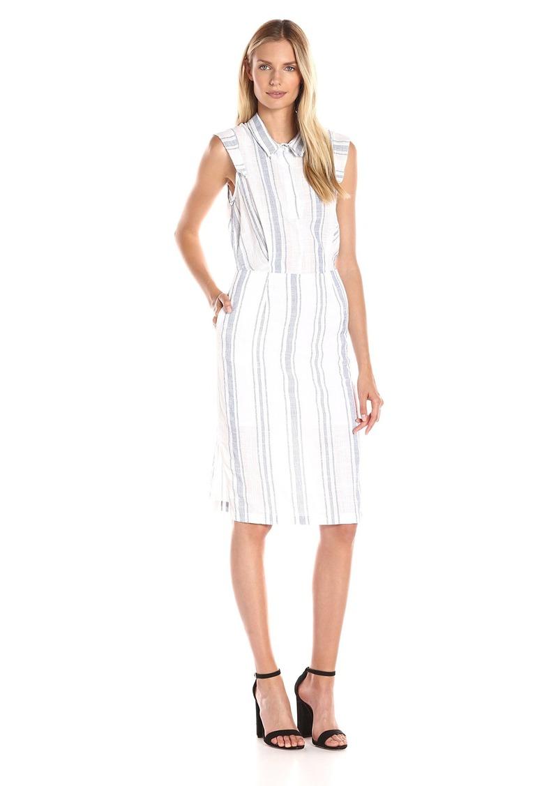 Olive & Oak Women's Collared Stripe Midi Dress