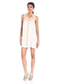 Olive & Oak Women's Color Block Shirt Dress Pale ist Combo edium