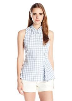 Olive & Oak Women's Gingham Sleeveless Shirt