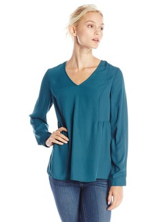 Olive & Oak Women's Ladder Back Long Sleeve Top